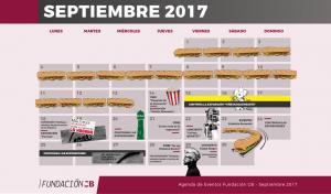agenda fcb septiembre 2017