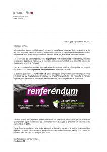 CARTA CONGRESO RENFERENDUM
