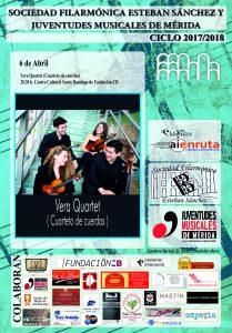 cartel vera quartet abril